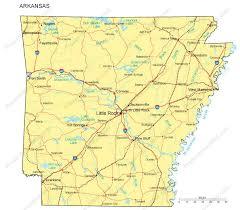 us map with arkansas arkansas map major cities roads railroads waterways digital