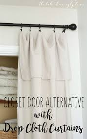 curtain hanging styles diy closet door alternative with drop cloth curtains easy and
