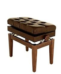 symphony adjustable cushion seat piano bench with storage