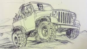 jeep painting canvas jeep infamous jims auto art sketches designs fine art