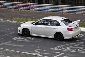 subaru wrx hatchback modified spied subaru wrx sti spec c spotted testing on the nürburgring