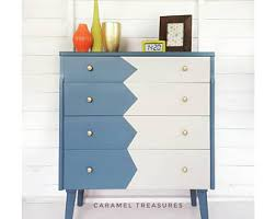 homemade upcycled dresser chest of drawers tall mustard