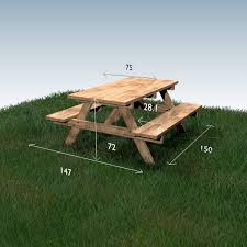 Free Plans Round Wood Picnic Table by Best 25 Picnic Tables Ideas On Pinterest Diy Picnic Table