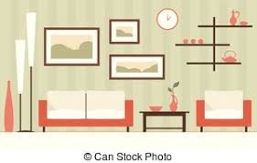 clip art of green classic livingroom classic livingroom with