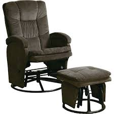 coaster chenille glider and ottoman in chocolate coaster chenille glider and ottoman in chocolate walmart com