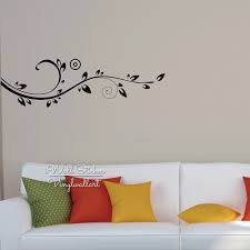 flower wall sticker floral wines wall decal diy modern blossom flower wall sticker floral wines wall decal diy modern blossom wines stickers living room decors cut vinyl stickers f18 in wall stickers from home garden