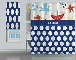 Childrens Shower Curtains by Shower Curtains Bath Home Monogrammed Shower Curtain