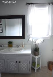 painting bathroom cabinets with chalk paint eye catching before after my pretty painted bathroom vanity of paint