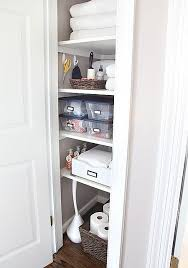Bathroom Closet Storage Ideas Cool Bathroom Closet Shelving With Best 10 Bathroom Closet