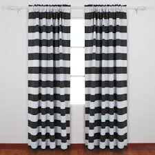 Black And White Blackout Curtains Deconovo Striped Blackout Curtains Rod Pocket Black And White