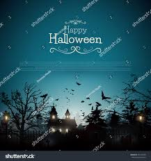 halloween background old graveyard church stock vector 332105438