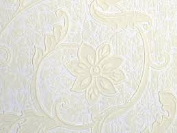 vintage embossed wallpaper ivory paintable vinyl wallcovering by