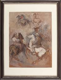 cowboy sketches by william meyerowitz on artnet