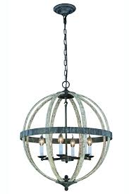 Ivory Chandelier 6 Lights 1503d24iw Orbus Collection