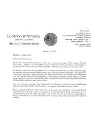 anyone in nevada county looking to build an affordable cabin sized nevada co board of supes letter of support for the four trails