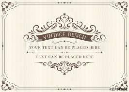 vintage cards ornate vintage card design with ornamental flourishes frame use