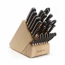 wusthof classic mega cutlery set with knife block 26 piece at
