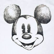 mickey mouse face black and white free download clip art free