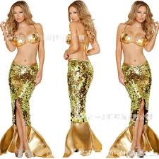 2016 new style golden sequins cosplay dresses for halloween