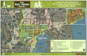 map of kissimmee parkway bicycle pedestrian bridge city of kissimmee fl