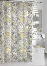 Grey And Yellow Bathroom Accessories by Yellow And Gray Shower Curtain Bathroom Grey U0026 Yellow Shower