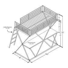 Metal Loft Bed With Desk Assembly Instructions Dhp X Twin Metal Loft Bed Over Desk Workstation Black Walmart Com