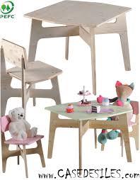 et chaises bois angles arrondis enfant 663 pas cher