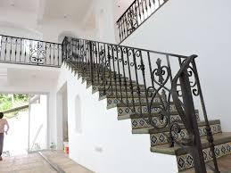 stair railing mediterranean design wrought iron railings