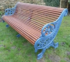 falkirk ironworks royal parks bench fully restored by thompsons