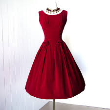 vintage 1950 u0027s dress decadent royal red velvet corset waist