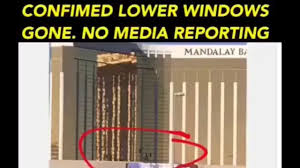 las vegas shooting 2017 proof of lower window smashed possible