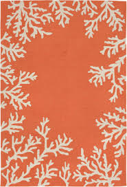 Coral Colored Area Rugs by Coral Border Rug From Capri By Trans Ocean By Liora Manne