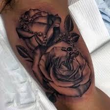 rosary tattoo on arm by niki23gtr my body is my journal pinterest