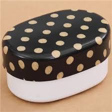 polka dot boxes black and white polka dot lacquer bento box lunch box from japan