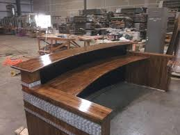 Wood Reception Desk Home Design Reclaimed Wood Reception Desk Asian Compact