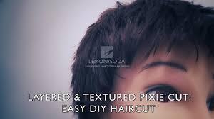 layered u0026 textured pixie cut easy diy haircut youtube