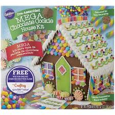 Christmas Cookie Decorating Kit Wilton Pre Baked U0026 Assembled Mega Chocolate Cookie House