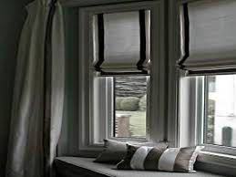 window furnishings ideas roman shade bay window curtains ideas