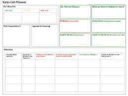 Sales Call Reports Templates Free by Sales Call Planner Tool