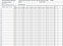 7 attendance excel templates excel templates