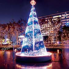 square mall tower design led light tree with number