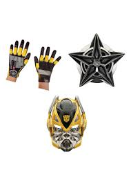transformers halloween costumes transformers bumblebee boys mask gloves and shield boys costumes