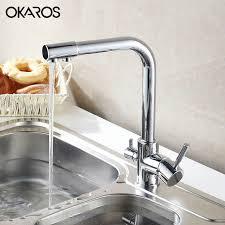 kitchen faucet water purifier aliexpress buy okaros kitchen faucet water purifier faucet