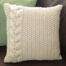 Knitted Cushion Cover Patterns Stupendous Cable Knit Pillow Cover Pattern 150 Cable Knit Pillow