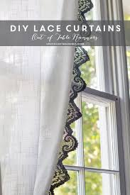 Lace Trim Curtains How To Make Anthropologie Inspired Lace Curtains Using Lace Table