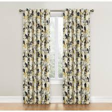 Waverly Curtain Panels Shop Waverly Leaf 84 In Graphite Cotton Back Tab Single