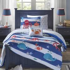 theme comforter travel themed bedding wayfair