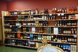 Liquor Display Shelves by The Passionate Foodie April 2015