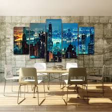 canvas wall art pictures home decor for living room 5 pieces hong