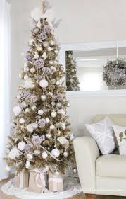 picture collection white christmas tree with pink ornaments all